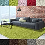 iCustomRug Dixie Cozy Soft And Plush Pile, 6ft0in x 9ft0in (6X9) Shag Area Rug In Lime Green
