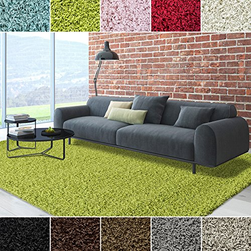 ICustomRug Dixie Cozy Soft And Plush Pile, 6ft0in x 9ft0in (6X9) Shag Area Rug In Apple/Lime Green