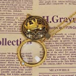 JGFinds Magnifying Glass Necklace Gold Tone Steampunk, 5X Eyeglass Magification 7