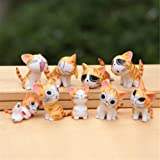 Chi Cat Toys 9 Pcs Japanese Cute Chi's Sweet Home Cats Dolls Animal Figures Collection Toy Set For Miniature Garden…