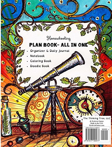 Coloring Book Organizer : The eclectic homeschoolers plan book: planner and organizer a