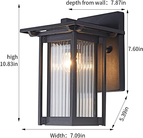 Outdoor Wall Mounted Light Fixtures Mini Outdoor Wall Sconce Waterproof Matte Black Aluminum Housing