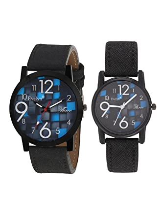 Analog Leather Watches for Lovely Couple -Eve-616-639
