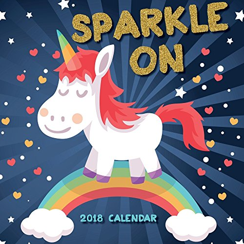 2018 Unicorns Sparkle On Wall Calendar for cheap