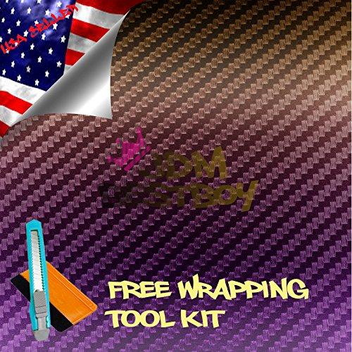 Free Tool Kit JDMBESTBOY Purple Gold Chameleon Carbon Fiber Car Vinyl Wrap Sticker Decal Sheet with Bubble Free - 60