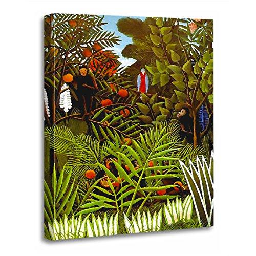 TORASS Canvas Wall Art Print Parrot Henri Rousseau Exotic Jungle Forest Artwork for Home Decor 24