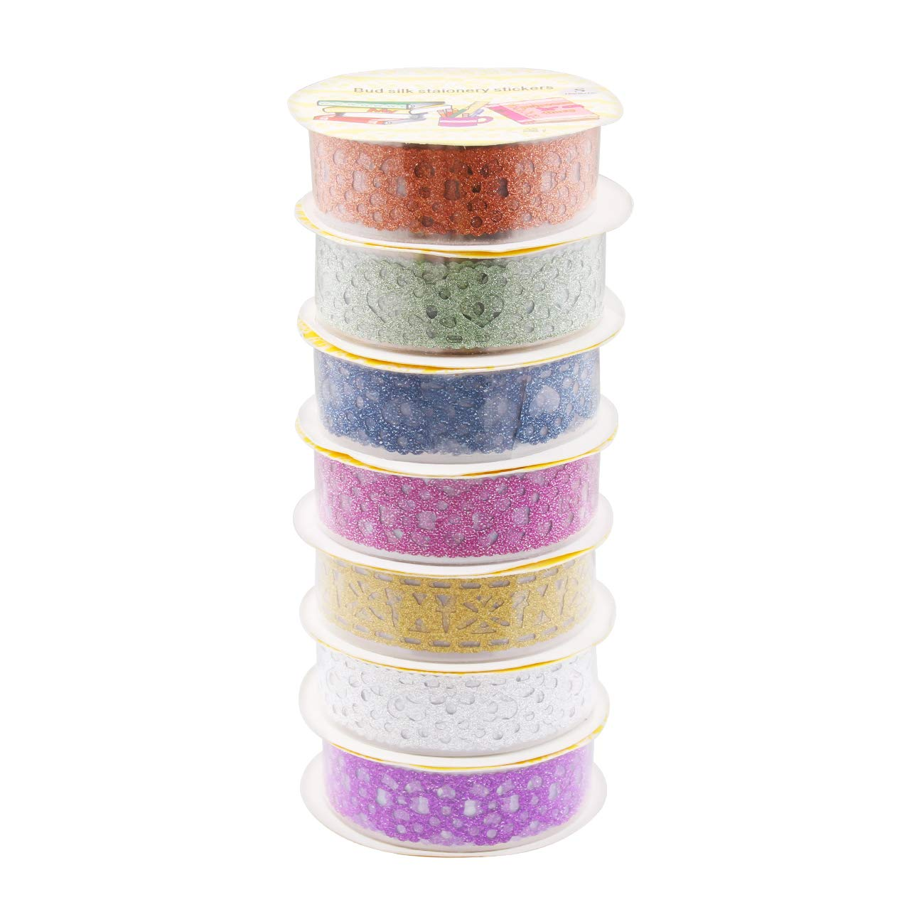 DIY All Girls Favorite Creative Candygirl Washi Tape Set of 30 Rolls Multi-purpose Scrapbook -Decorative Re-positional Masking tape. Great For Arts and Crafts