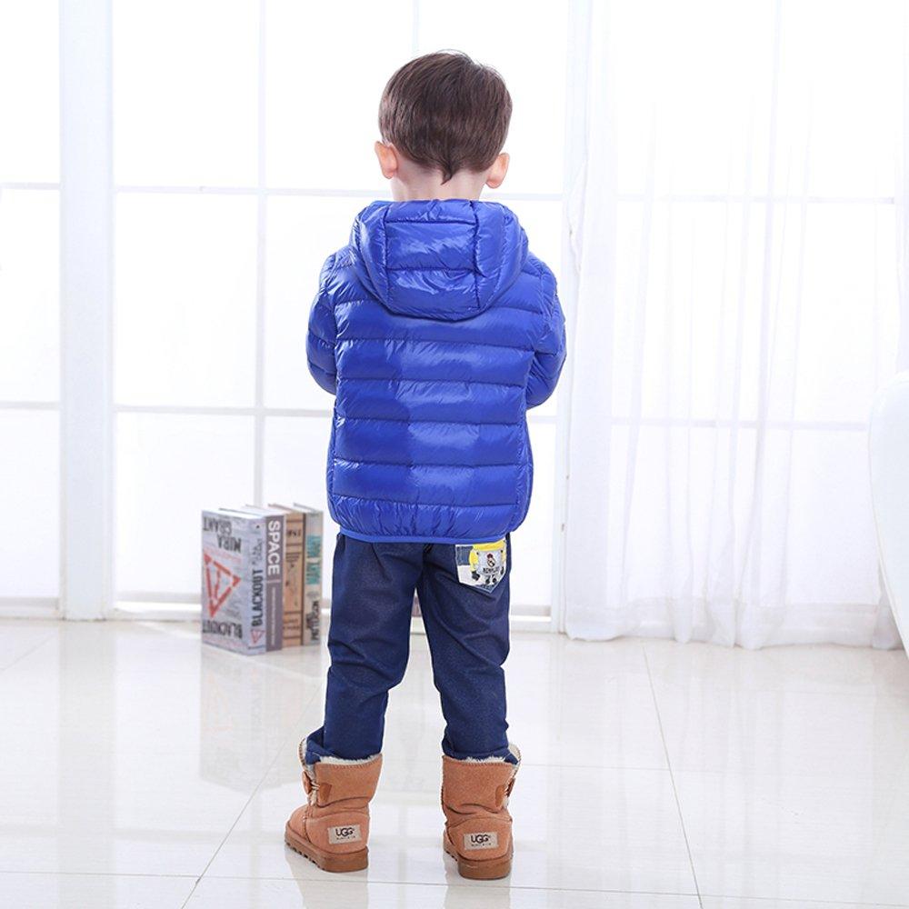 PRETCFTB Little Boys and Girls Lightweight Packable Hooded Jacket Windproof Outwear Puffer Down Coats