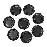 Wewin Set of 8 Non-Stick Flower Shape Egg Tart