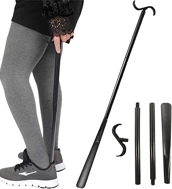 Details about  /Shoe Horn Wooden Lifter Long Handle Shoehorn Boots Sneaker Aid Tool Hotel Home