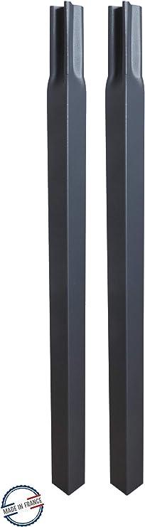 Accessoires de Fixation Fer Vieilli Louis Moulin 3289920035263 Pack 4 Tubes carr/és /à enfoncer 2x2x45 cm