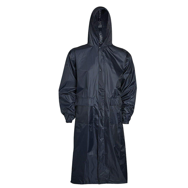 INDX Clothing Unisex Adults Waterproof Long Rain Coat Light Weight Hooded Rain Jacket Rain Trouser Rain Coat Outdoor