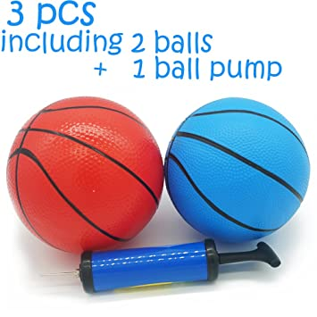 MICROFIRE Toddler Kids Replacement Basketball Inflatable Magic Shot Pro Mini  Hoop Pool Basketballs ball Toy Pump e5377c99b7