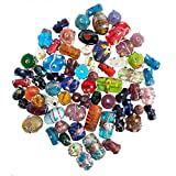 Glass Beads for Jewelry Making for Adults 120-140 Pieces Premium Quality Lampwork Murano Loose Bulk Beads for Bracelets, Necklaces, Accessories – Wholesale Jewelry Craft Supplies (MULTI COMBO - 10 OZ)