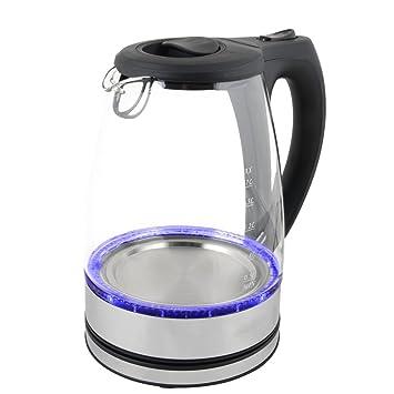 Amazon.de: Wasserkocher Edelstahl Glas mit LED Beleuchtung 1, 7 Liter