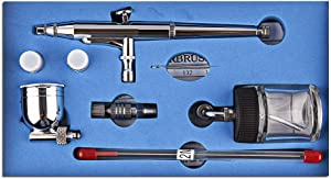 CYBERNOVA Double-Action Trigger Air-Paint Control Airbrush -0.2mm/0.3mm/0.5mm Needle (SP134)
