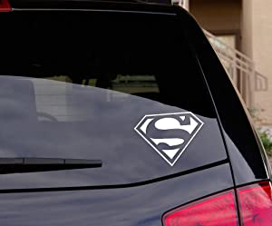 """Signage Cafe Superman Decal Sticker for Car Window, Laptop and More. 5.5"""" Wide - Choice of Colors"""