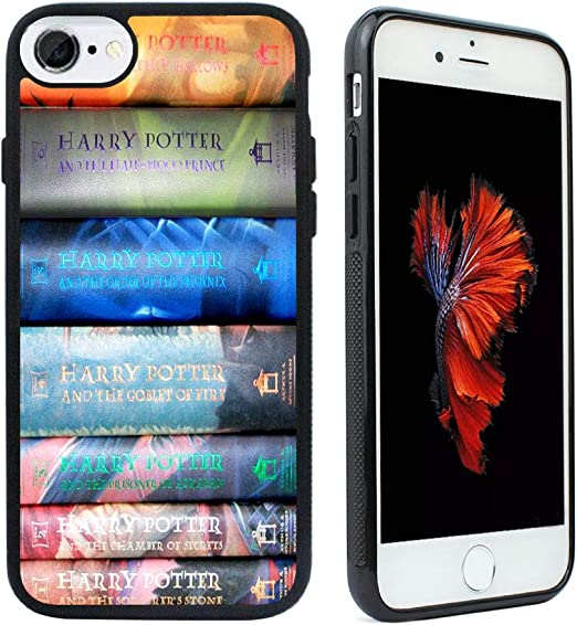 VONDER iPhone 7 Case,iPhone 8 Case, Harry Potter Books Black Rubber Phone Case for iPhone 7,iPhone 8 Cover