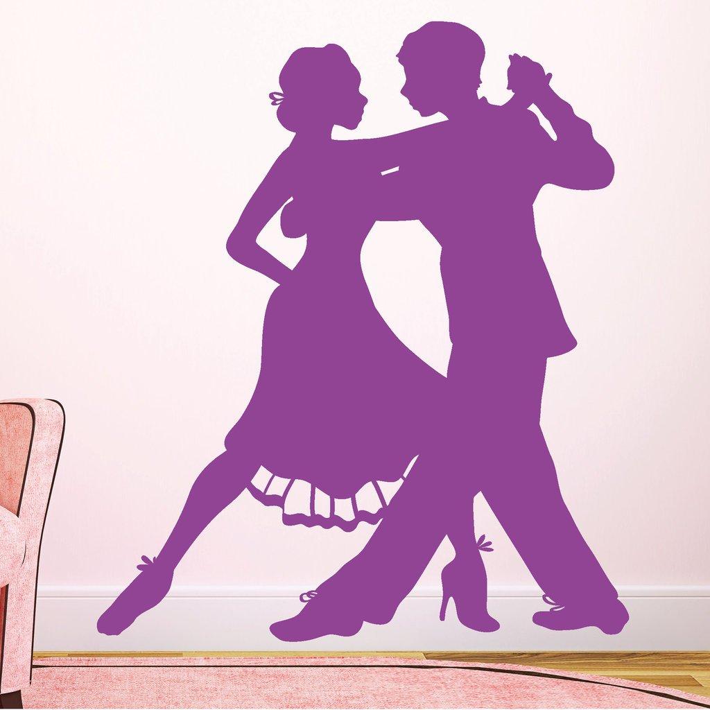 "Wandtattoo Loft ""Tänzer Tango Tango Tango Tanzen  - Wandtattoo   54 Farben   3 Größen   schwarz   115 cm (breit) x 133 cm (hoch) B00YX8VFL8 Wandtattoos & Wandbilder 6b3417"
