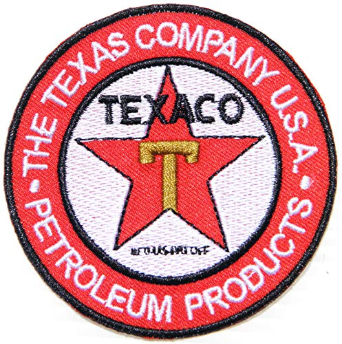 TEXACO Oil Racing Patch Iron on Sewing Embroidered Applique Logo Badge Sign Embelm