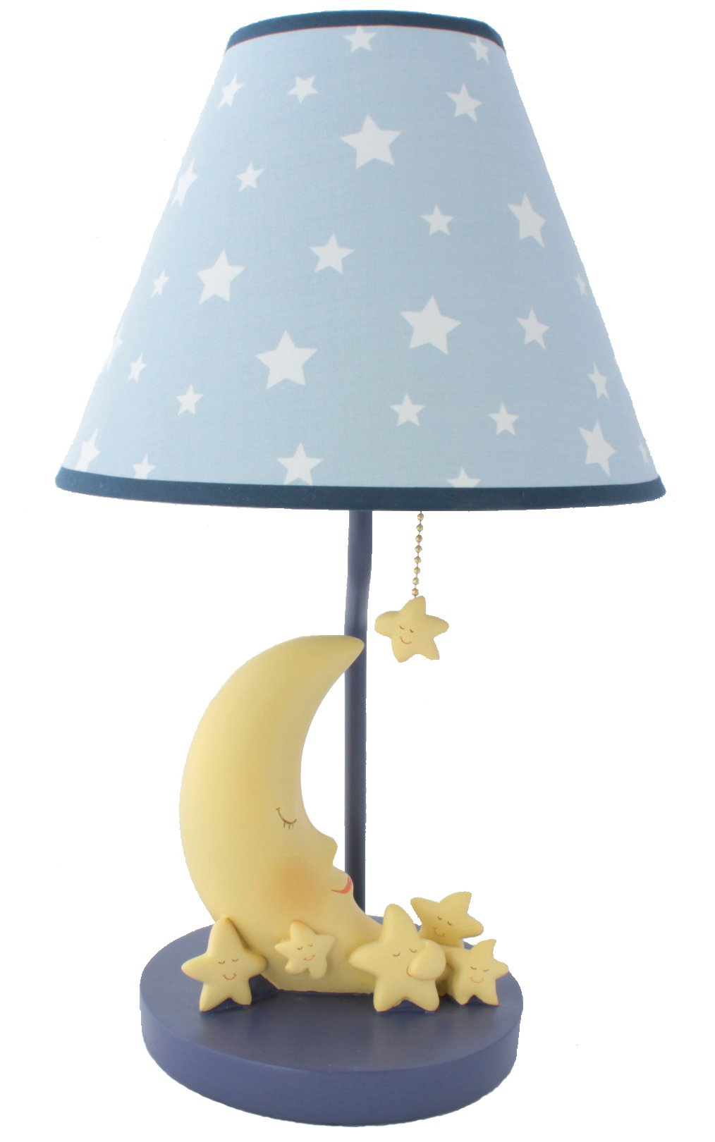 Sleepy Moon and Stars Table Lamp with Matching Night Light - Fantastic Hand Painted Details