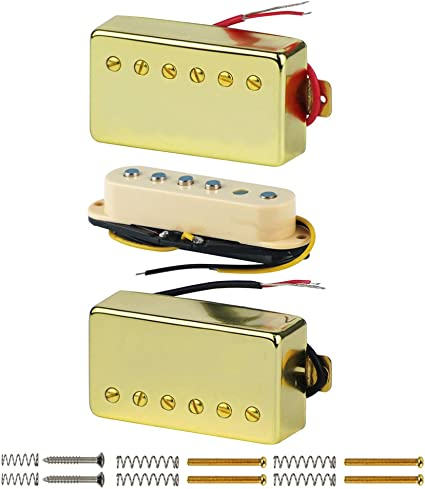 FLEOR 3pcs guitarra pastillas Humbucker HSH Set para LP Guitarra ...