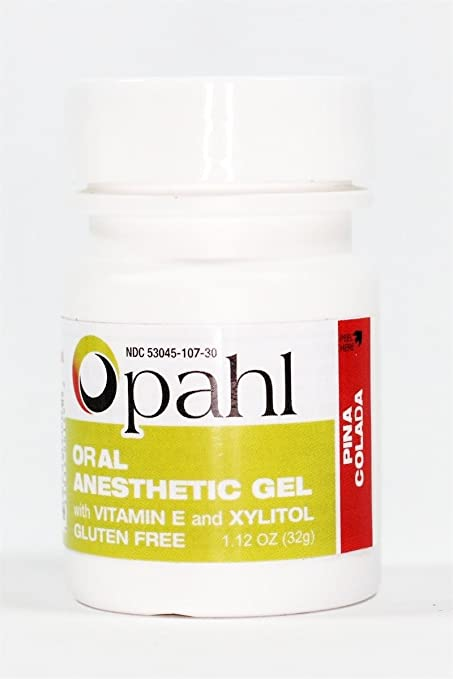 OPAHL Topical Anesthetic Gel 20% Benzocaine PINA COLADA FLAVOR 1.12oz