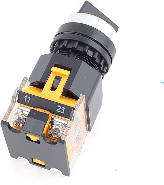 sourcingmap AC 400V 10A Circuit commande 3 position 4 bornes inter rotatif verrouillage