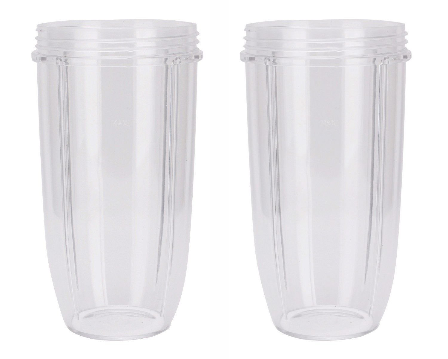 NUTRiBULLET 32-Ounce Cups by NutriGear (Pack of 2)   NutriBullet Replacement Parts & Accessories   Fits NutriBullet 600w and Pro 900w Blender