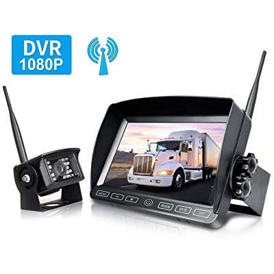 ZEROXCLUB Digital Wireless Backup Camera System Kit,HD1080P Wireless Reverse Rear View Camera,No Interference,IP69 Waterproof + 7'' LCD Wireless Monitor for RV/Truck/Trailer/Bus/Pickup/Van-W701: Car Electronics
