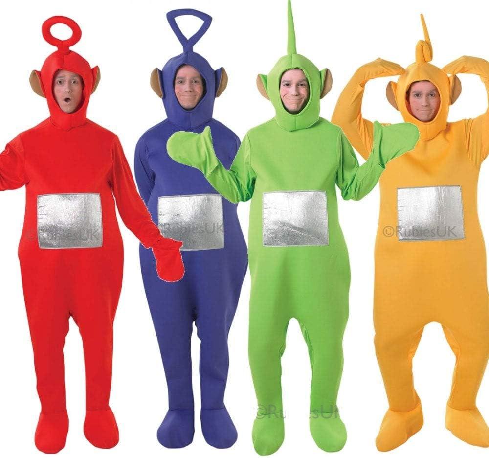 ALL 4 Hombre Mujer Adulto TELETUBBIES teletubby Disfraz Despedida ...