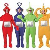 ALL 4 Hombre Mujer Adulto TELETUBBIES teletubby Disfraz Despedida De Soltero Disfraz (STD)