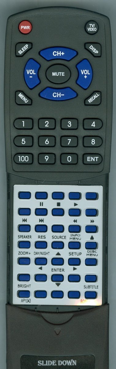Replacement Remote Control for Rosen AP1043, Z10