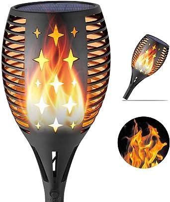 3 en 1 Imperméable Solaire Clignotante Flamme Lampe 38 DEL Outdoor Yard 3 Modes Lumière