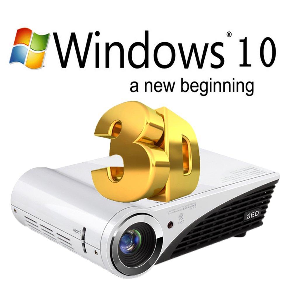 nierbo - Mini proyector 3d HD 1080P 4 K proyector portátil cine en ...
