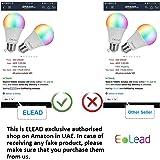 مصباح إضاءة ليد واي فاي احمر واخضر وازرق من ايليد سمارت 10 واط و100 واط متوافق مع اليكسا جوجل هوم - اضاءة متغيرة الالوان…