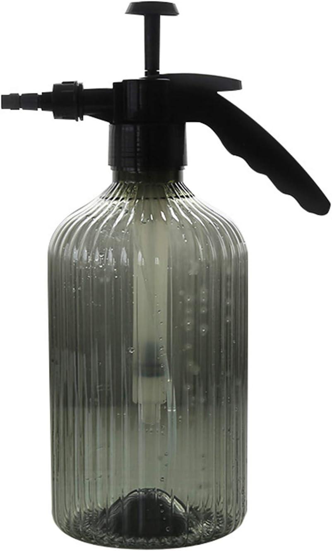 Botella De Spray Presurizada Multiusos De 68 Oz con Boquilla Ajustable De Espuma De Niebla Regadera Ajustable,Gris