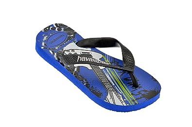 a49f9d0fe Havaianas Kids Radical Blue Black 25 26  Amazon.co.uk  Shoes   Bags