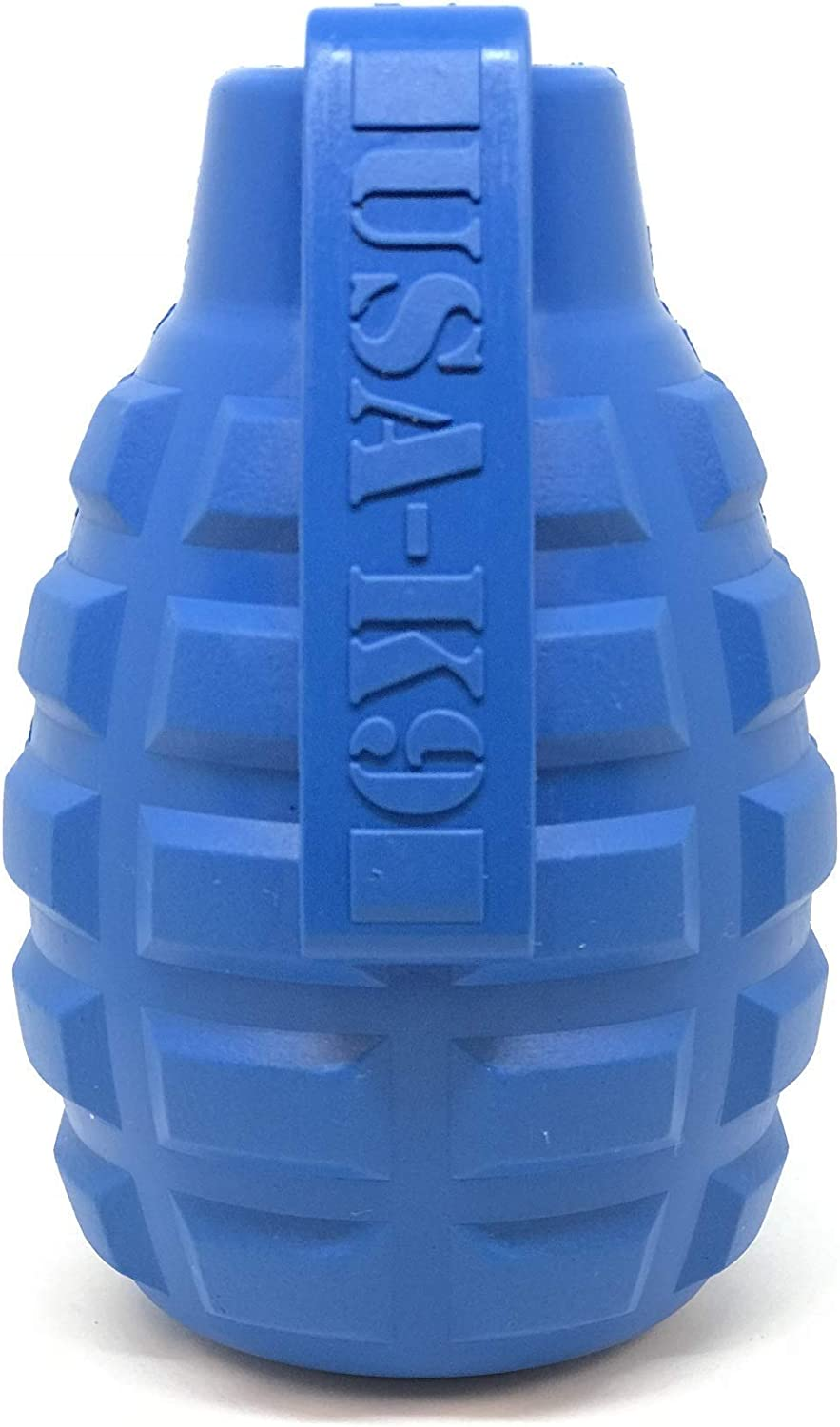SodaPup USA-K9 Dog Toy - Natural Rubber Grenade Shaped Dog Chew Toy - Treat Dispenser - Slow Feeder - for Heavy Chewers - Made in USA