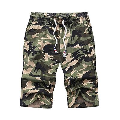 HaoDong Mens Summer Sport Shorts Pants - Fashion Clothing Plus Size Camouflage Cotton Workout Pants | Amazon.com