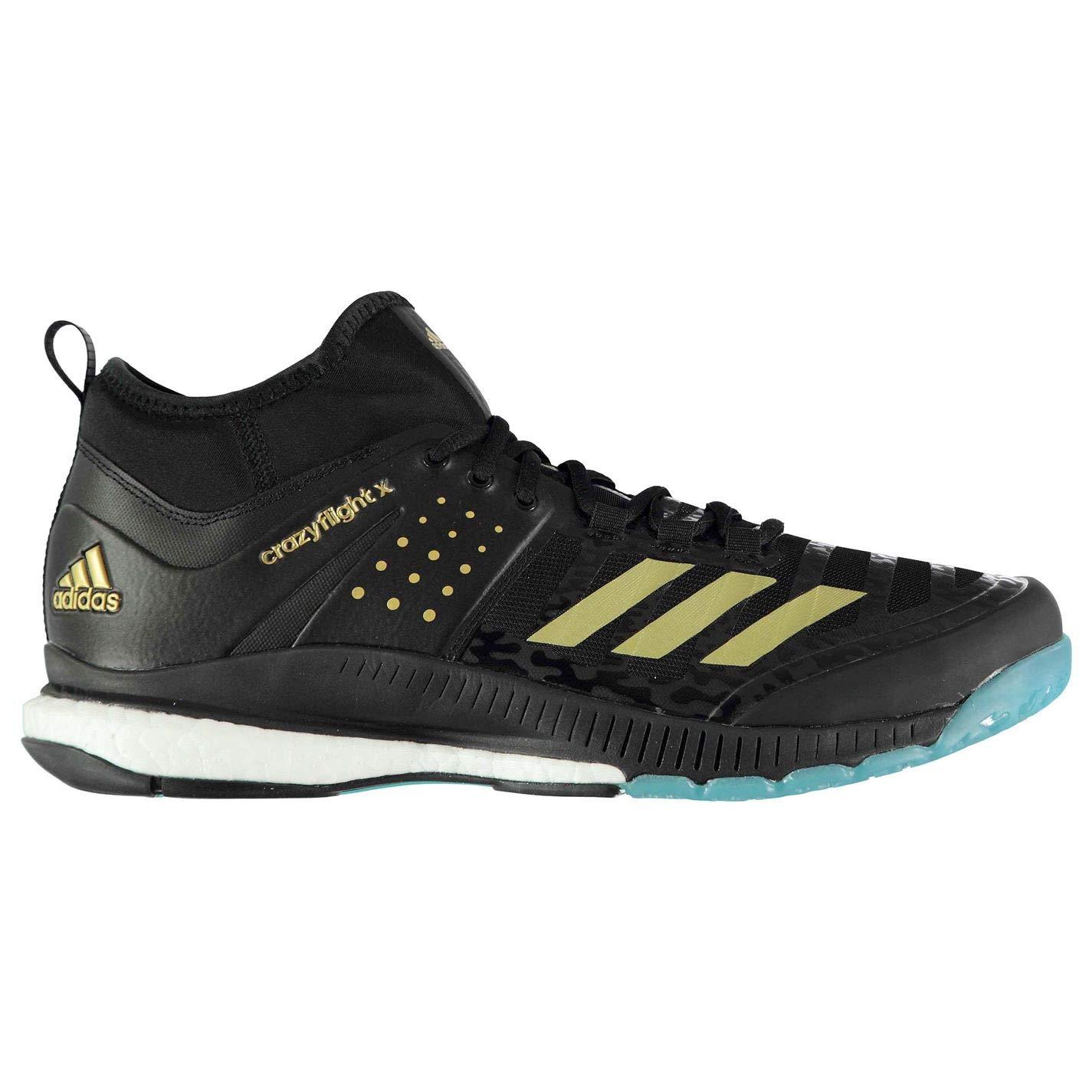 adidas Men's's Crazyflight X Mid Volleyball Shoes (Ftwbla ...