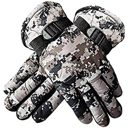 SIYAA Men's Winter Bike Riding Hand Gloves -1 Pair (Grey)