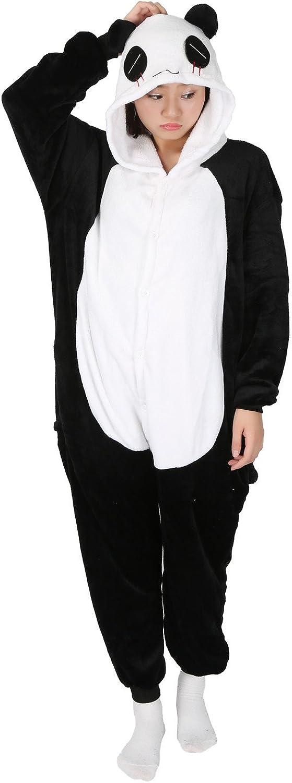 LATH Animal Carnaval Disfraz Cosplay Pijamas Adultos Unisex Ropa De Noche S/M/L/XL (L, Panda-2)
