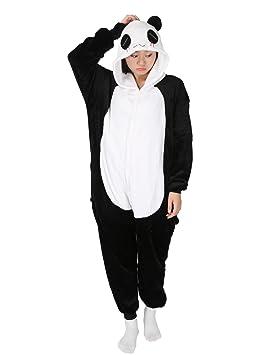 3fa8965252cbc Adulte Kigurumi Unisexe Anime Animal Costume Cosplay Combinaison Pyjama ou  Déguisement - Panda - Taille S
