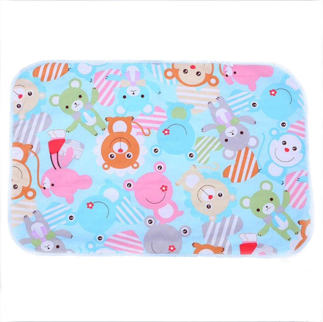 Multifit Cute Cartoon Changing Mat Breathable Waterproof Underpads Mattress Pad Sheet Protector(Fish)