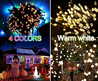 [2015 New Arrival] Christmas String Lights Waterproof Solar Fairy String Lights for Christmas Decoration, Outdoor, Gardens, Patio, Wedding Party, Holiday Landscape