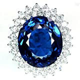 Fashion 925 Sterling Silver Blue Sapphire Women/Men Wedding Bridal Jewelry 6-10 (6)