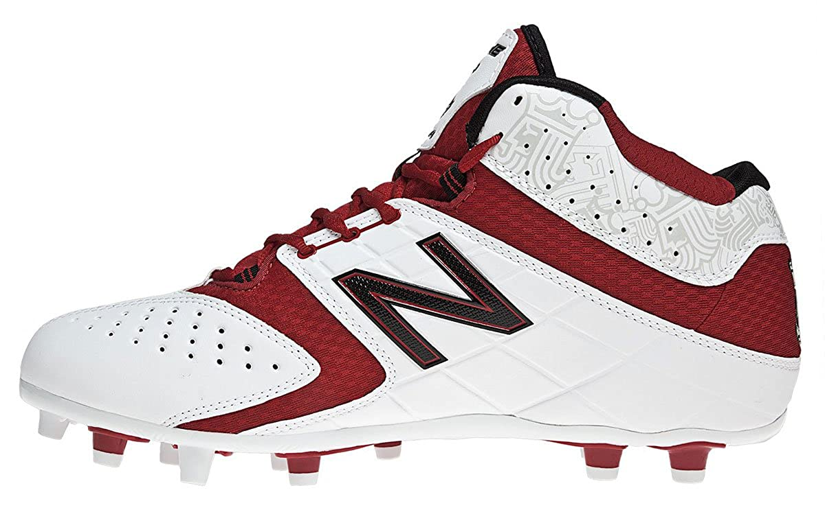 103511d477cf0 Amazon.com | New Balance - Mens 5464 Cushioning Lacrosse Shoes, Size: 9  D(M) US, Color: White with Red | Soccer