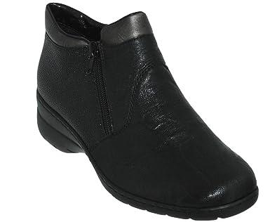 8e10dbd33159 Rieker Bottines L4363 Noires  Amazon.de  Schuhe   Handtaschen