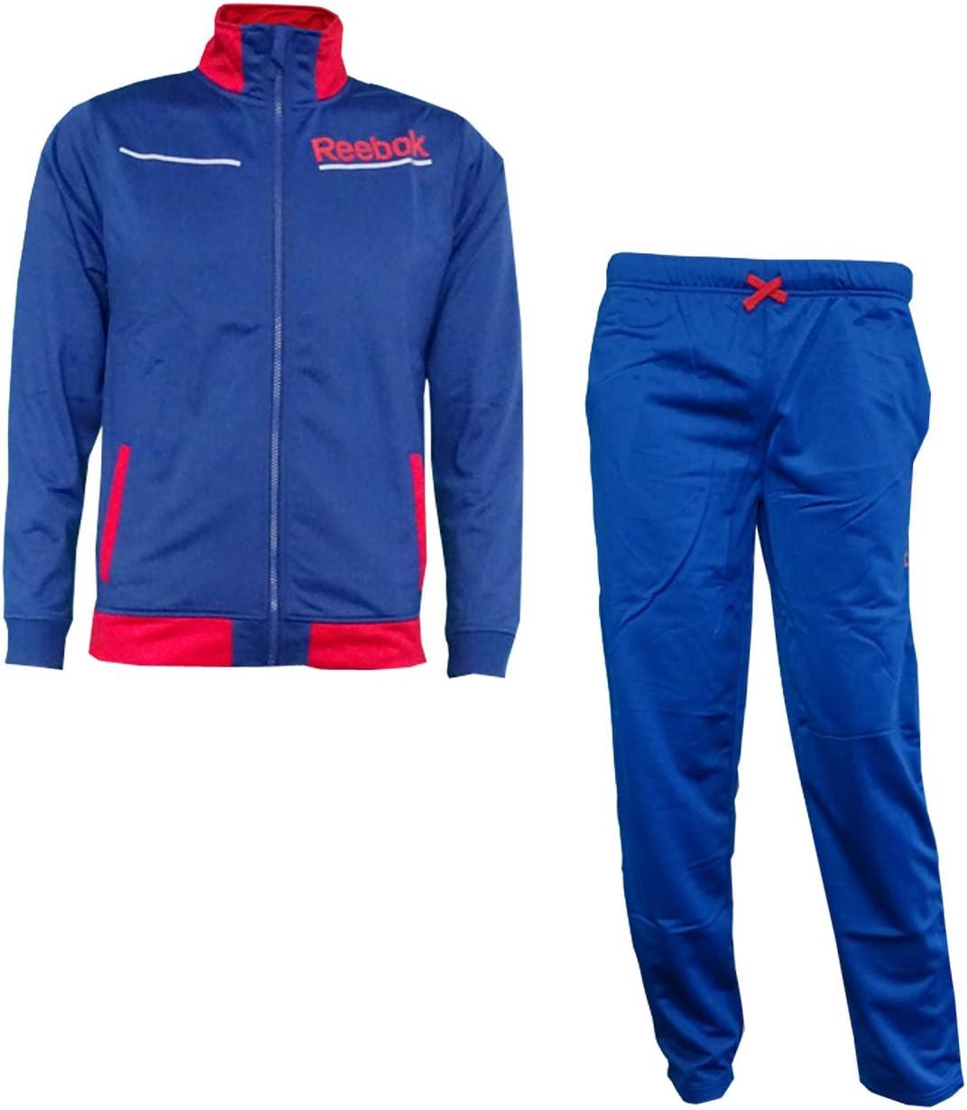 Reebok b03302 Joven Chándal para hombre – Color Azul/Rojo, todo el ...